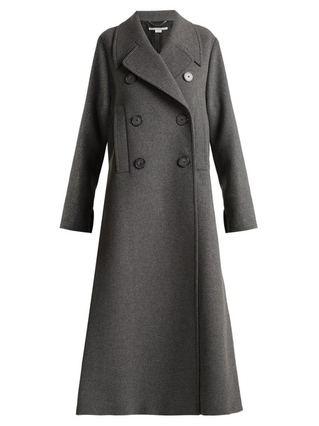 Stella McCartney coat slit wool dark grey