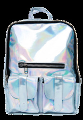 bag,backpack,silver iridescent,holographic,cyber,shiny,accessories,silver,metallic,metallic bag,metallic backpack