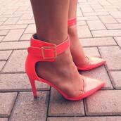 shoes,qupid,qupid mayfair pump,pumps,heels,bright heels,simple heels,strappy heels