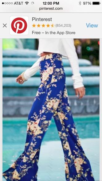floral blue shirt pants