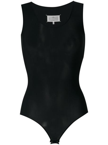 MAISON MARGIELA bodysuit sleeveless women spandex black underwear