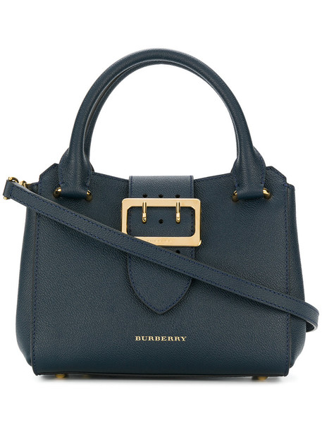 Burberry women bag tote bag leather blue