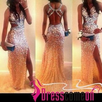 dress prom fashion prom dress prom gown sparkly dress mermaid prom dress mermaid dresses mermaid dress long helpmefindthis helpmefind helpmefindthisplease cutoutsides sparkly prom dress gold gold sequins gown formal dress formal women womans girls jumpsuit
