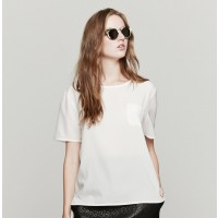 Maison Kitsune Top Plumetis In Ivory | The Dreslyn