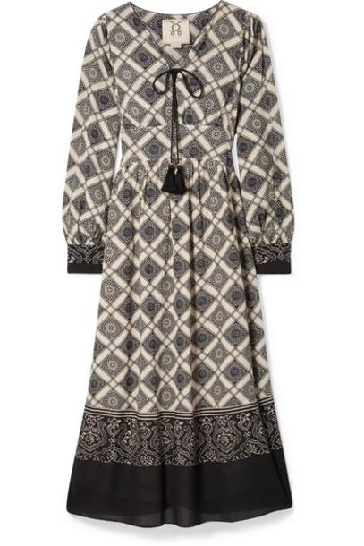 Figue - Nova Printed Gauze Midi Dress - Beige