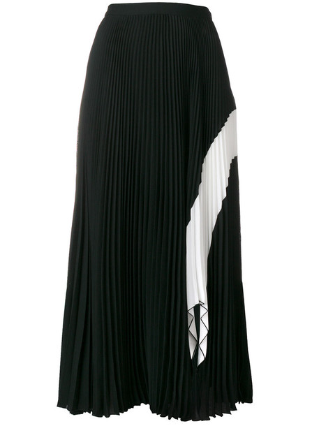 Proenza Schouler - Crepe Pleated Skirt - women - Polyester - 8, Black, Polyester