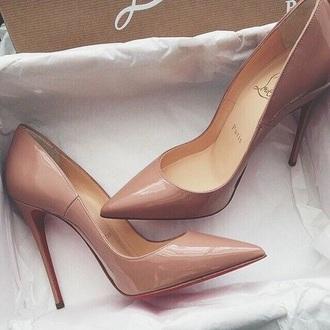 shoes nude heels high heel pumps louboutin