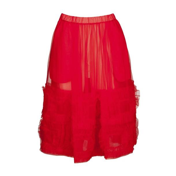 skirt midi skirt midi red