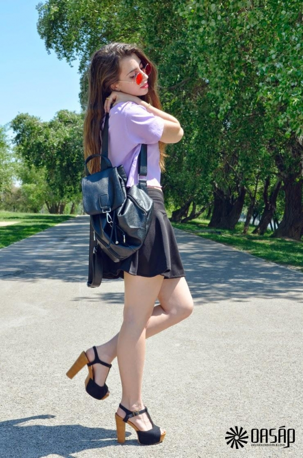 Easy Pleated A-line Skirt - OASAP.com