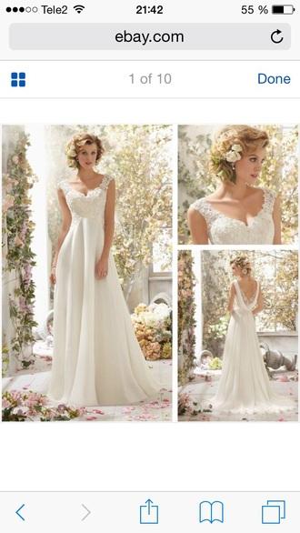 dress bridal wedding wedding dress white lace beachwedding romantic