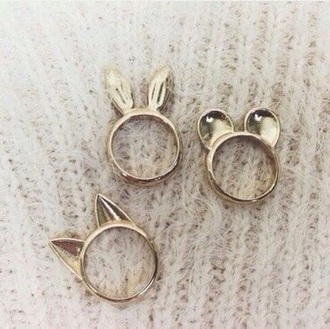 mickey mouse jewels ring bunny cats