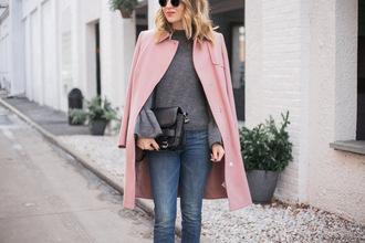 ohsoglam blogger coat sweater shoes bag jewels sunglasses