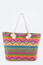 bag,betsy boo's boutique,aztec,purse,tote bag,beach,canvas beach bag