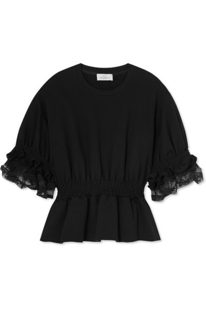 PREEN BY THORNTON BREGAZZI top cotton black