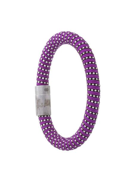 Carolina Bucci metal women silver silk purple pink jewels