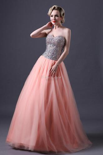 prom dress pink dress tulle dress pink tulle dress pink prom dress pink ball gown vowslove.com