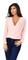Deep v wrap blush blouse