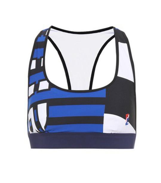 bra sports bra blue underwear