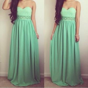 Dress teal green long dress light blue lace cute dress maxi dress prom