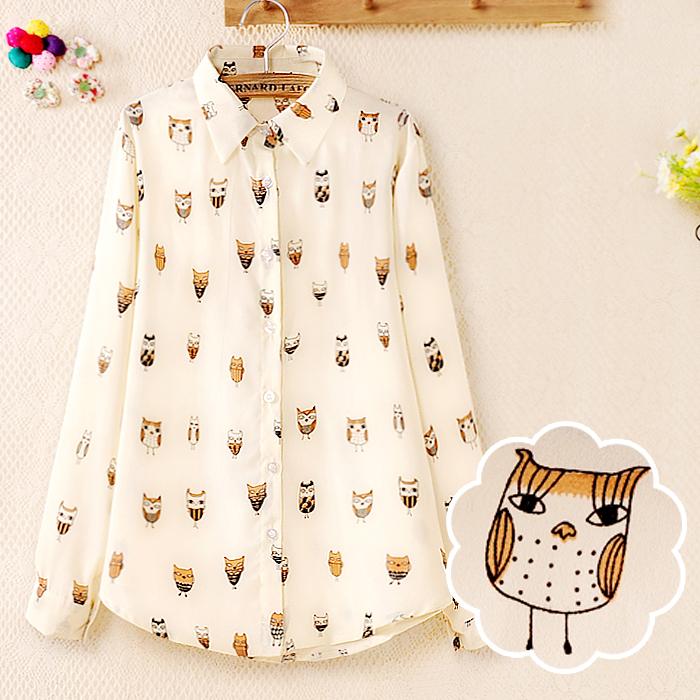 2014 spring baru Korea baju perempuan baju asas Korea d 401C 455 baju chiffon wanita menambah