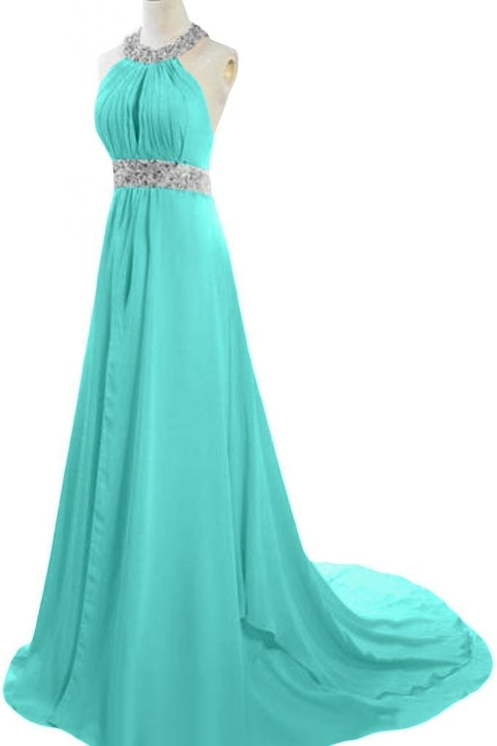 Enjoybuys Exquisite Halter Neck Evening Prom Dresses With