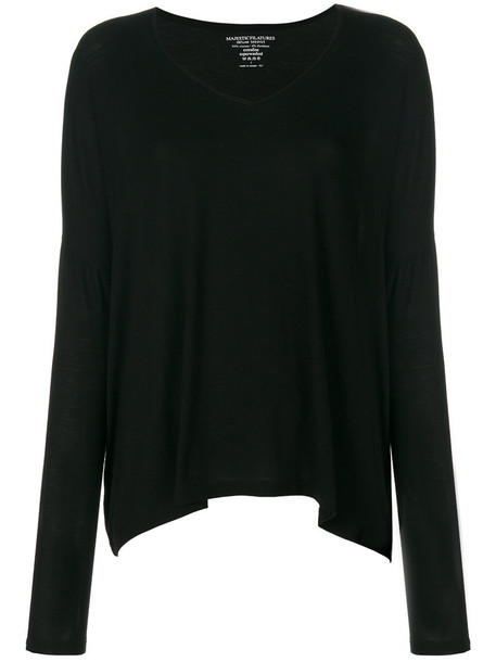 top loose women spandex fit black