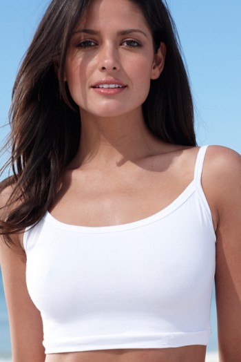 Womens Crop Tank Top - White | Hapari Swimwear