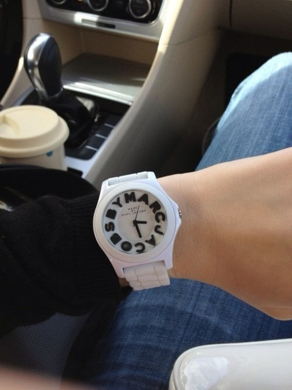 jewels white black black and white marc jacobs watch marc jacobs watch