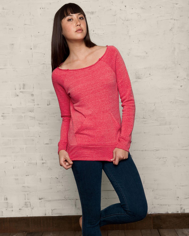 Alternative Women's Off The Shoulder Neckline Maniac Sweatshirt AA9582 | eBay