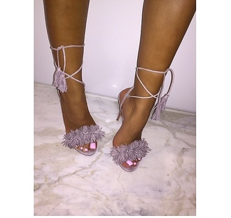 shoes sandals lace up high heel sandals nude peach girl girly girly wishlist heels high heels fringes lace up heels