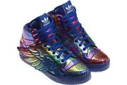 Adidas jeremy scott wings rainbow hologram new, 100 % authentic