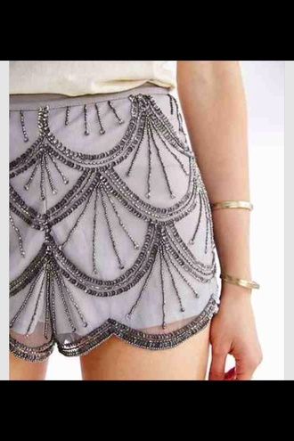 shorts style stylish embroidered bedazzled girly fancy