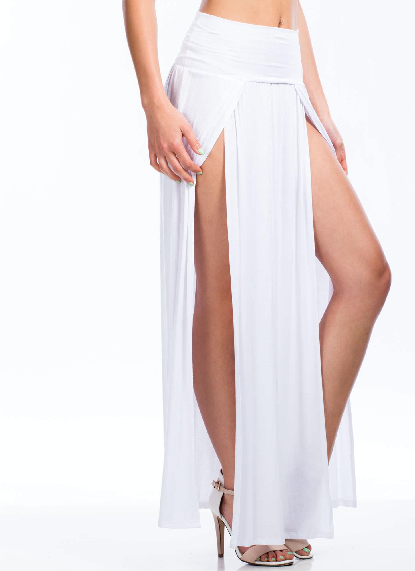 Slit Maxi Skirt - GoJane.com