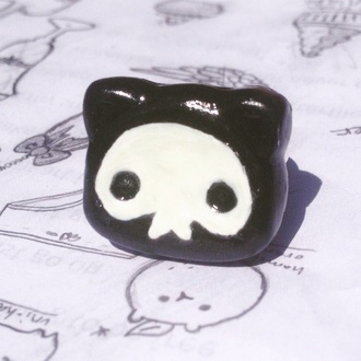 jewels cute cats kitty ring glow in the dark pastel goth