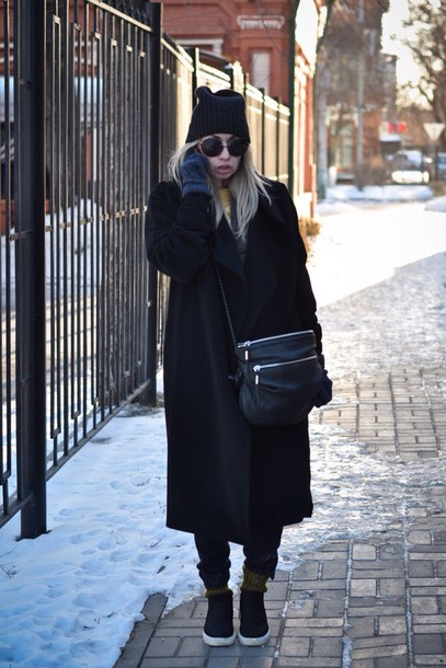 coat black jacket bag