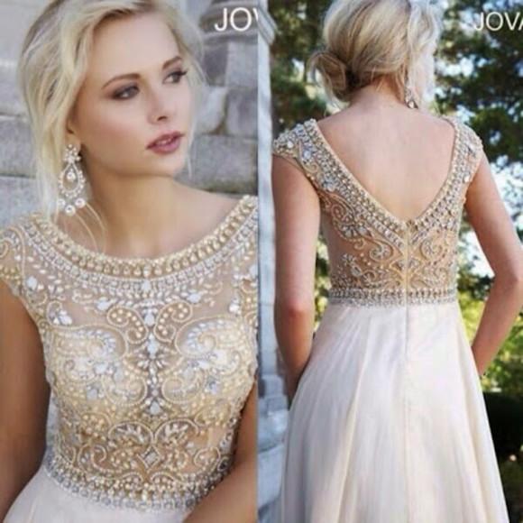 prom dress evening dress a-line dress cap sleeve prom dress v-back dress chiffon white evening dress rhinestones dress