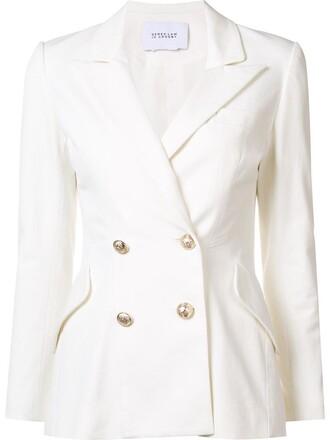 blazer women white cotton jacket