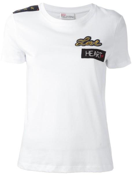RED VALENTINO t-shirt shirt t-shirt women white cotton top