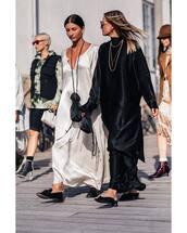 dress,silk dress,maxi dress,loafers,mini bag,oversized