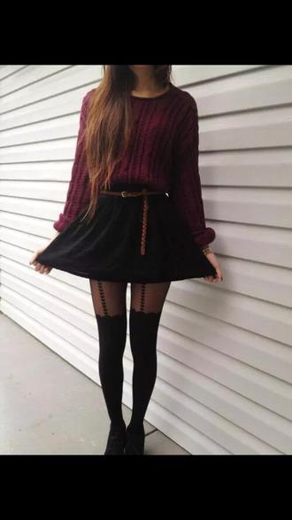 tights sweater