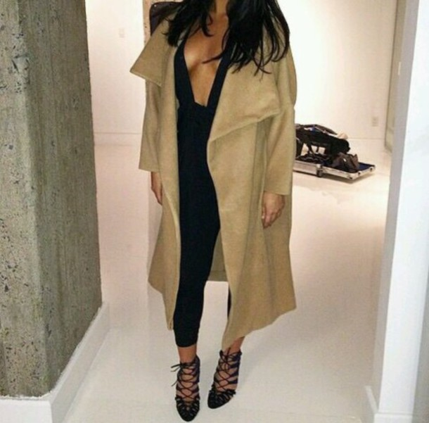 coat nude coat sexy coat nude sexy cute waterfall coat beige coat nuetral beautiful style