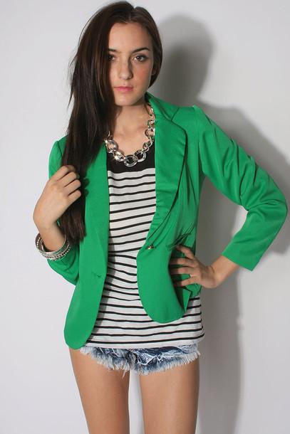 2 Cute Clothing Website jacket green blazer cute