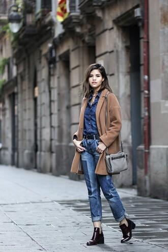 fake leather blogger shoes coat shirt jeans belt bag