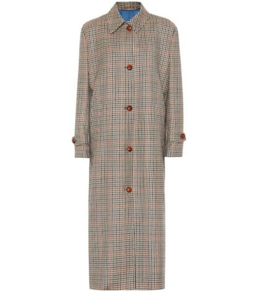 Giuliva Heritage Collection The Maria checked wool coat in beige / beige