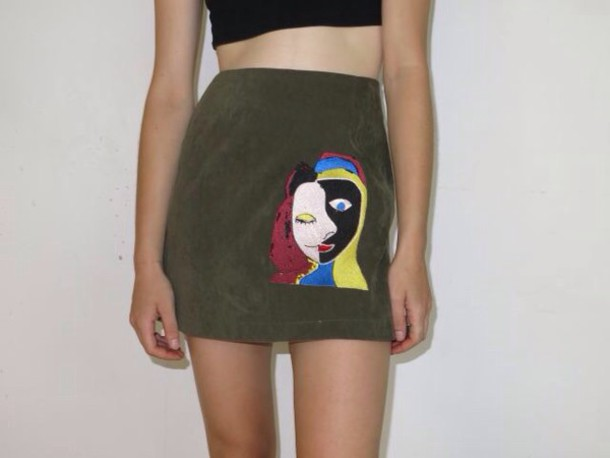 skirt 80s style 90s style mini skirt