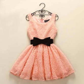 pink dress dress cute dress cute black bows belt outfits outfit cute outfits summer dress style summer outfits fashion shorts pants coat leggings jacket