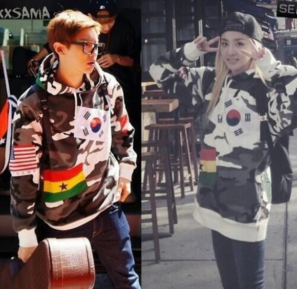 korea jacket hoodie sweat jacket camouflage chanyeol kpop american flag sandra countries