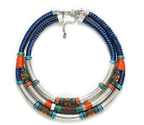 zara jewels necklace tribal metal