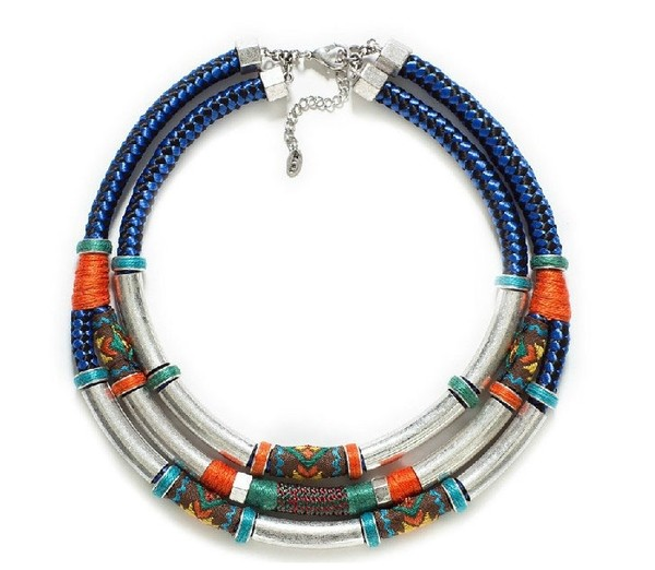 jewels zara necklace tribal pattern metal