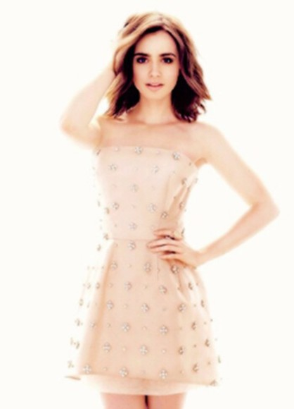 lily collins dress
